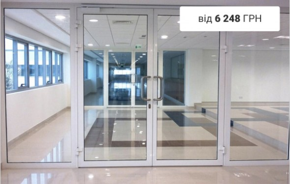 Single and double swing glass doors